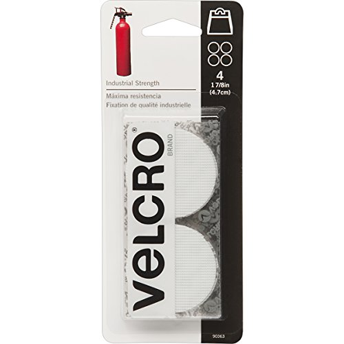 (VELCRO Brand 90363 Industrial Fasteners Stick-On Adhesive | Professional Grade Heavy Duty Strength | Indoor Outdoor Use, 1 7/8in, Circles 4 Sets)