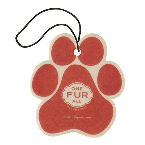 One Fur All Pet House Car Air Freshener, Pack of 4 - Ruby Red Grapefruit - Non-Toxic Auto Air Freshener, Pet Odor Eliminating Air Freshener for Car, for Small Spaces, Dye Free Dog Car Air Freshener