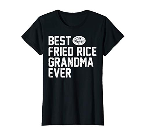 Womens Best Grandma FRIED RICE Ever Vintage T-shirt