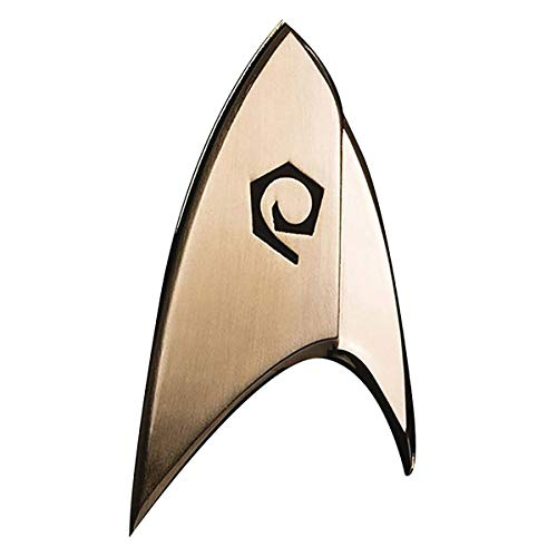 filmwelt-shop QSTR129 Quantum Mechanix Star Trek Discovery-Operations Badge, Multi Colour