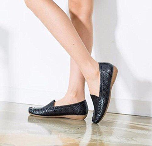 KUKI Runde Kopfschuhe bequeme atmungsaktive Casual flache Schuhe 2