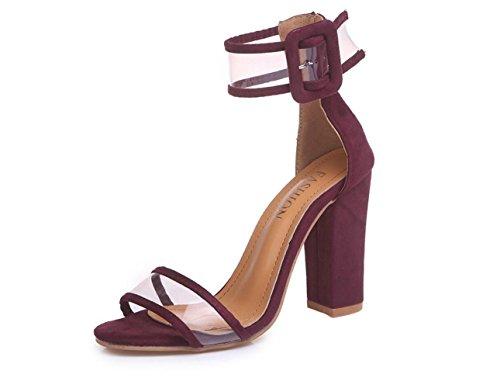 de los Caña Zapatos Las Que Frescas de datan Sandalias Calado de Sandalias del Mujeres la del 43 multicoloras Tobillo Hueco Winered Tq5WW8wSU