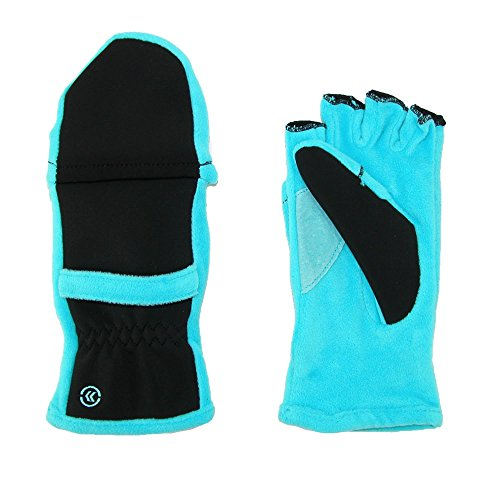 Isotoner Women's Fleece Stretch Convertible Gloves with Thumb Hole, 1 size