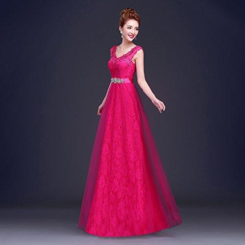 155 rouge S JKJHAH Robes De Mariée Rouge Robes De Soirée Lace Girls