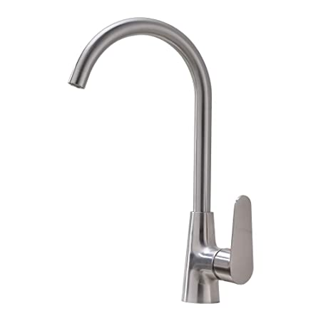 Glanzhaus Modern 360 Degree Swivel Stainless Steel Single Handle