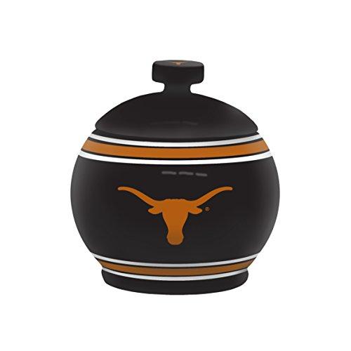 NCAA Texas Longhorns Sculpted Game Time Jar, 12-ounce, Black (Texas Candy Longhorns)