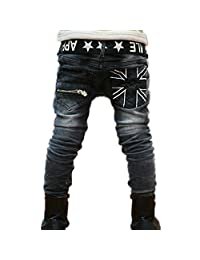 BEIBEI Kids Big Boys Jeans Children Spring Casual Pants for Boys 5-13 Years