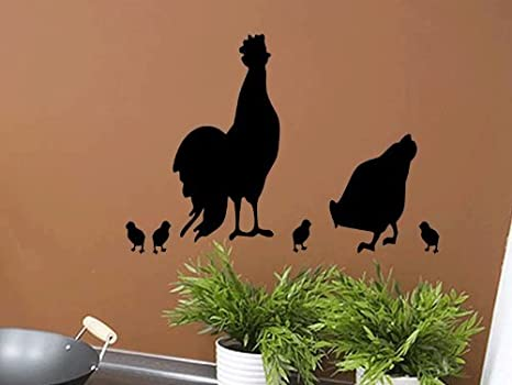 Amazon Com Quote Designs Rooster Decal Chicken Decal Chicken Wall Decal Kitchen Wall Decals Chicken Farmer Gift Rooster And Hen Wall Decals Chicken Decor Home Kitchen