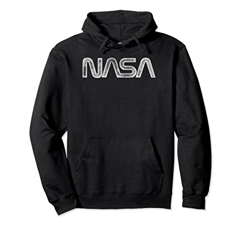 - Unisex NASA Vintage Distressed NASA Worm Logo 2XL Black