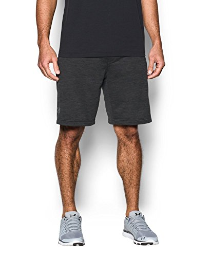 Under Armour Men's Tech Terry Shorts, Carbon Heather (090)/Silver, Small by Under Armour (Image #2)