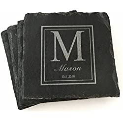 Custom Slate Coasters Personalized