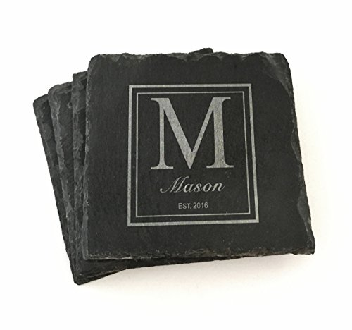 Personalized Wedding Coasters (Custom Slate Coasters Personalized)