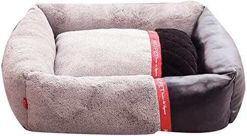 エクストラソフトケンネル、整形外科犬のベッド屋内ペットベッドフォーシーズンズユニバーサル犬マットは、パッド太いキープのウォーム上げエッジグレー120x90cm(47x35inch)を眠る、サイズ名:60x50cm(24x20inch)、色名:グレー (Color : Gray, Size : 60x50cm(24x20inch))