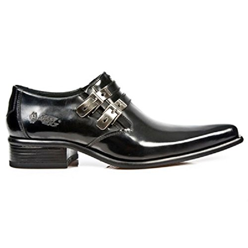 Western 2246 Newrock Rock Noir Metal New Steel s20 Patent Métallique Chaussures M Hommes aaOwz6xq1