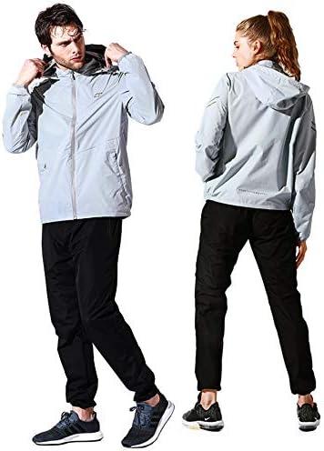 サウナー スーツ Temmix サウナー スポーツ スーツ メンズ レディース ダイエットスーツ 大量発汗 燃焼サポート ヨガ フード付き 上下セット ウインドブレーカー 洗濯可 大きいサイズ 男女兼用