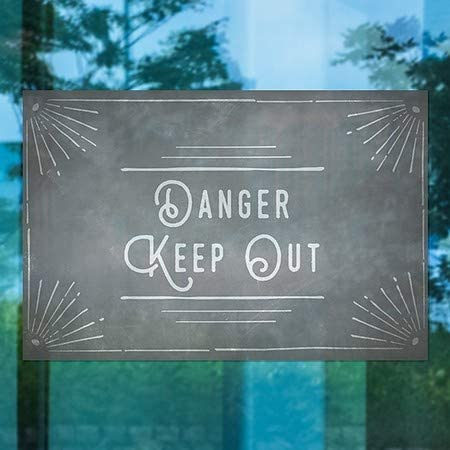 Danger Keep Out 5-Pack CGSignLab Victorian Card Window Cling 12x12