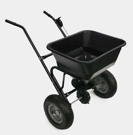 Push Broadcast Spreader 30 kg with Pneumatic Tyres WilTec