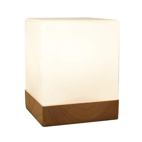 Lámpara de mesa de cabecera con forma de cubo, lámpara de ...
