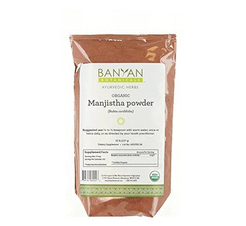 Banyan Botanicals Manjistha Powder, 1/2 Pound - USDA Organic - Rubia cordifolia - Cleanses the Blood & Lymph - Ayurveda