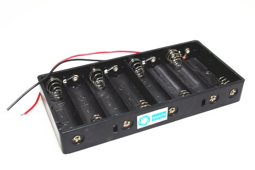 SMAKN® New Plastic 8 X 1.5V AA 2A CELL Battery Holder Storage Box standard 12V Case With Lead Wire