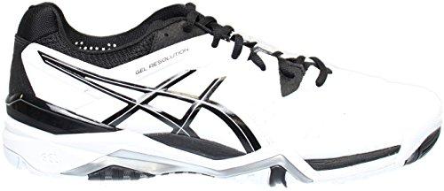 ASICS Chaussure de tennis pour GEL Resolution 6 Argent , pour Homme , Blanc/ Noir/ Argent , M 5513150 - camisetasdefutbolbaratas.info