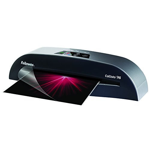 Fellowes Laminator Callisto 95, 9.5 Inch Laminating Machine, with Laminating Pouches Kit (5728401)