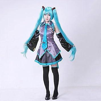 hatsune miku cosplay traje sin peluca , XXS: Amazon.es ...