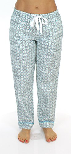 Pajamamania Mujer Blue Circles Para Pantalón pRwqpY