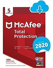 McAfee Total Protection 2020   5 Dispositivos   12 Meses   PC/Mac/Android/Smartphones   Código de activación enviado por email