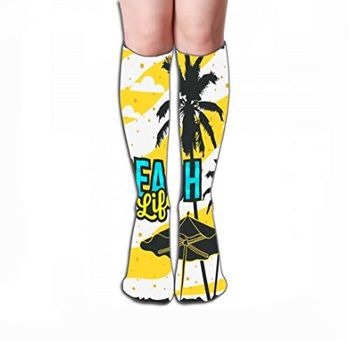 (Xunulyn Women Girls Novelty Funny Crew Socks 19.7