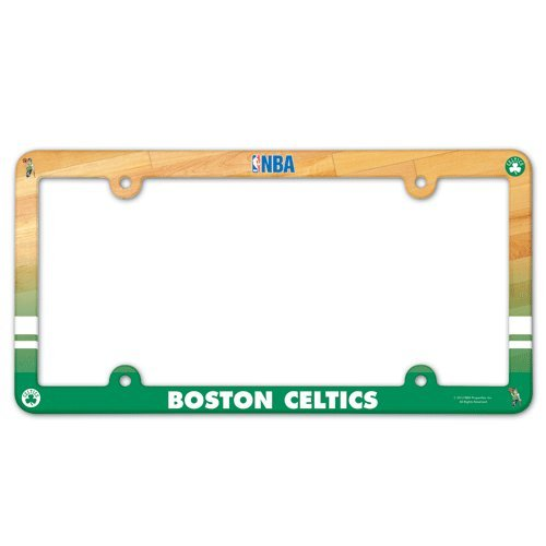 NBA Boston Celtics Full Color License Plate Frame, Team Color, One Size