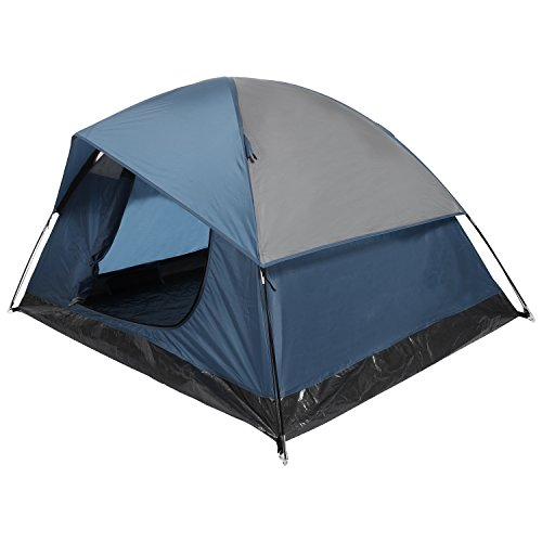 YUEBO Camping Tent Lightweight Waterproof Backpacking Tent Weatherproof 2 Person Double Layer Rain Fly with Carry Bag (Navy Blue)
