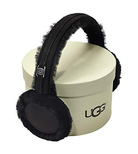 Ugg Shearling Hat - UGG Women's Classic Water Resistant Sheepskin Non-Tech Earmuff Black One Size