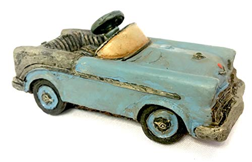 Popular Imports - Popular Imports Miniature Antique Blue Pedal Car for Fairy Garden or Home Decor