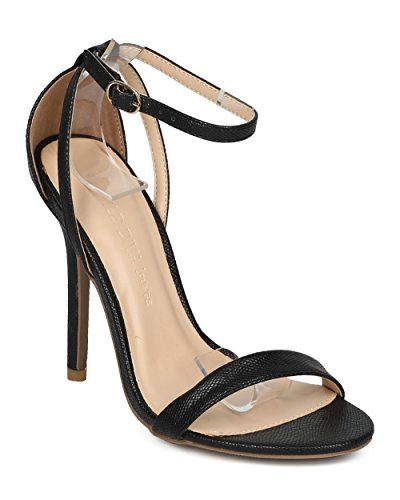 Women Occasion Minimalist Night Black Ankle Special Diva by Stiletto HD65 Dressy Girls Wild Alrisco Heel Strap Wedding Heel Leatherette Party Sandal Collection dxvwBdq