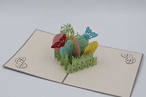 Handmade 3D Pop Up Happy Easter Greeting Cards (Easter Egg) Photo #2