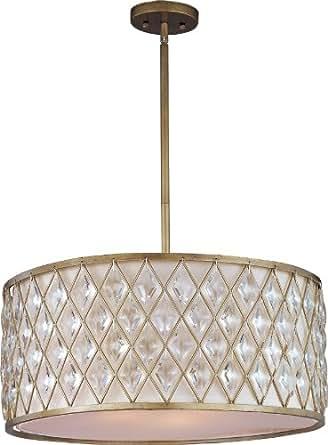 Maxim Lighting 21457OFGS diamond-single Pendant diamond 4-Light Pendant