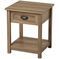 Andover Mills Robin 1 Drawer Nightstand, Salt oak