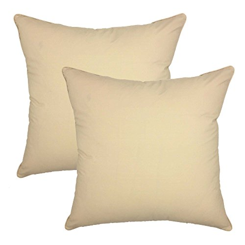 your-smile-100-cotton-decorative-throw-pillow-case-18-x-18-solid-color-2-pack-oatmeal