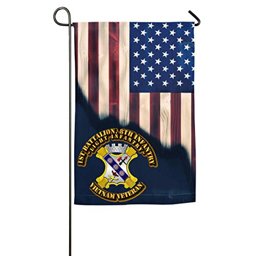 (NPZBHoney30X45 1st Battalion, 8th Infantry Light Infantry W Out SVC Ribbon Classic Garden Flag Decorative Flags for Outdoors - 12