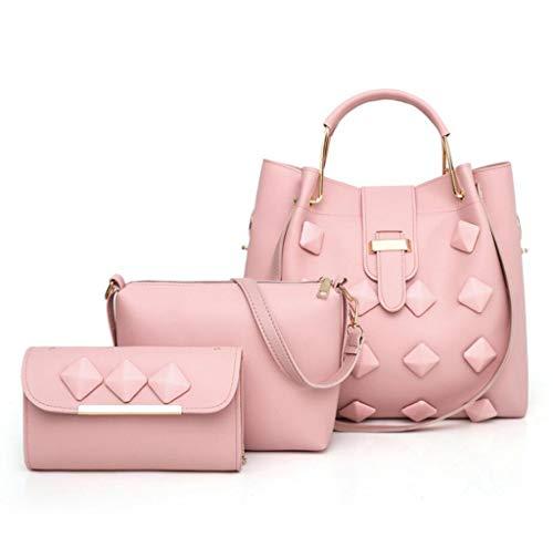 Portefeuille de Main Main 3 Women's Main bandoulière à Imitation Pink à Dames Sac Sac pièces à à Sac Sac Cuir qptxw4fP