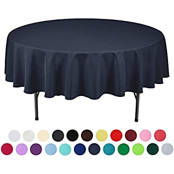 Marvelous VEEYOO 90 Inch Round Solid Polyester Tablecloth For Wedding Restaurant  Party , Midnight Navy