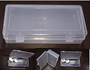VAS Clear 9  Polypropylene Small Plastic Storage Box Hinged Lid u0026 Snap Closure -For Pencils Pens Scissors Office Supplies Small Item Organizer ... & Amazon.com : VAS Clear 9