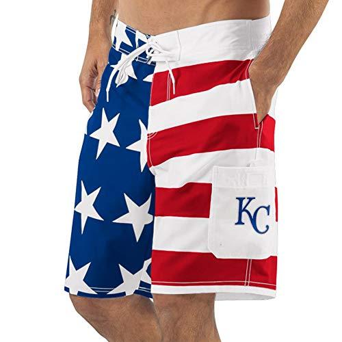 (Kansas City G-III Sports by Carl Banks Americana Swim Trunks - Red/Blue (XX-Large))
