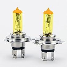H4 DC 12V 100w Yellow Led Fog Light Bulbs Halogen Car Parking Headlight Pack of 2