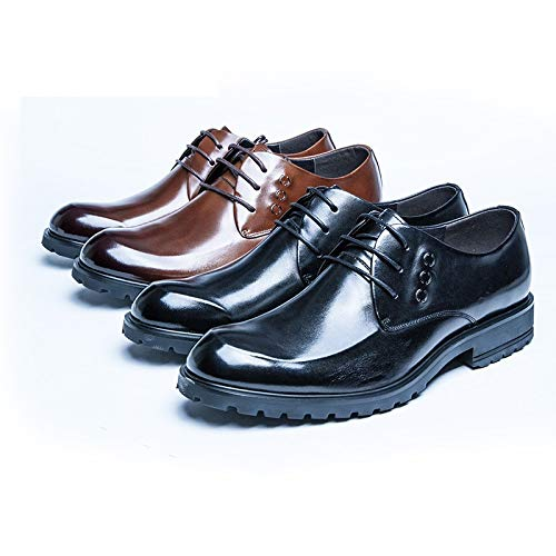 Scarpe Scarpe Black Scarpe d'affari Color 43 EU stringate pelle piatte Brown Size XZP casual in per uomo qExCHYw