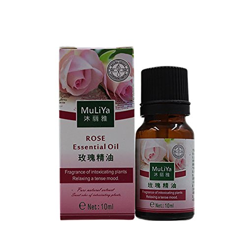 Cutelove Wormwood/Rose/Lavender/Ginger Essential Oil Aromatherapy Fragrance Massage Spa Essential Oils 0.35 Fl oz