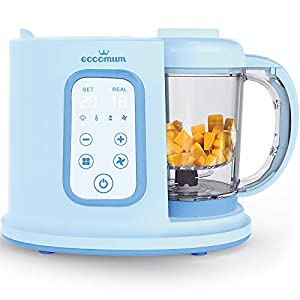 Baby Food Maker Eccomum Baby Food Processor Multi-Function Cooker, Blender to Steam, and Puree with Tritan Stirring Cup…