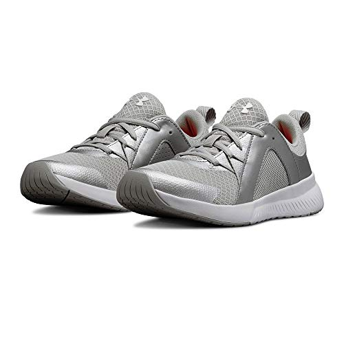 Under Armour Women's Intent Trainer Sneaker Ghost Gray (102)/Metallic Silver 6.5