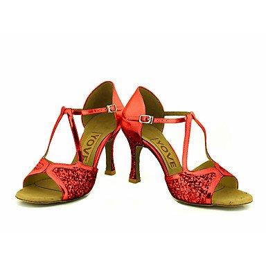 Rojo Plata de Personalizables Red Personalizado Oro baile Latino Zapatos Salsa Negro Tacón twSCCIxq